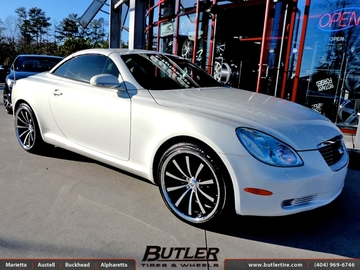 Lexus SC with 20in Lexani CVX 55 Wheels