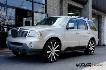 Lincoln Aviator with 24in Velocity VW12A Wheels