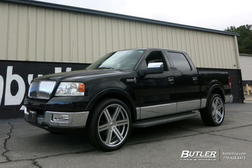 Lincoln Mark LT with 24in Black Rhino Lataba Wheels