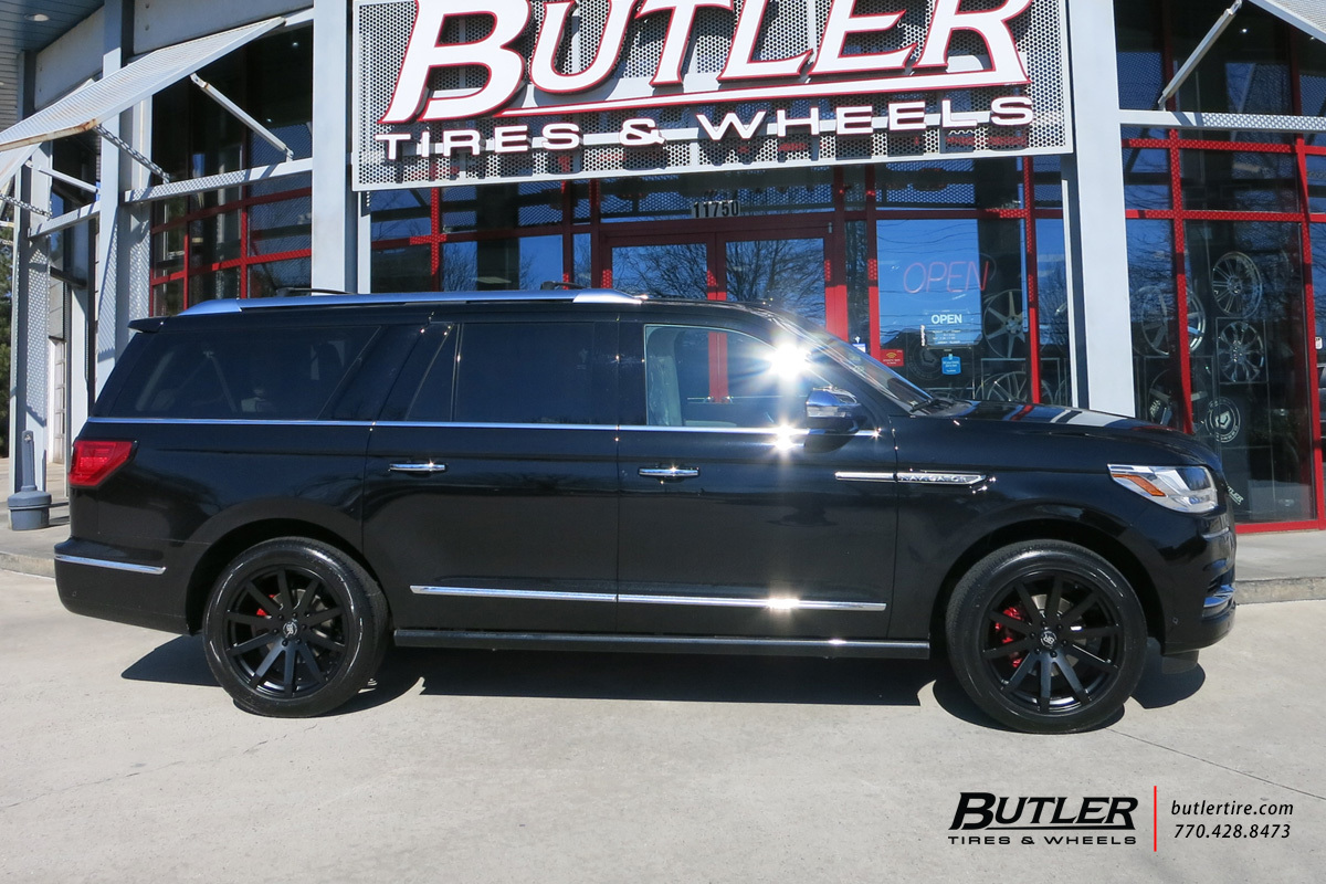 Lincoln Navigator With In Black Rhino Traverse Wheels Extra Large