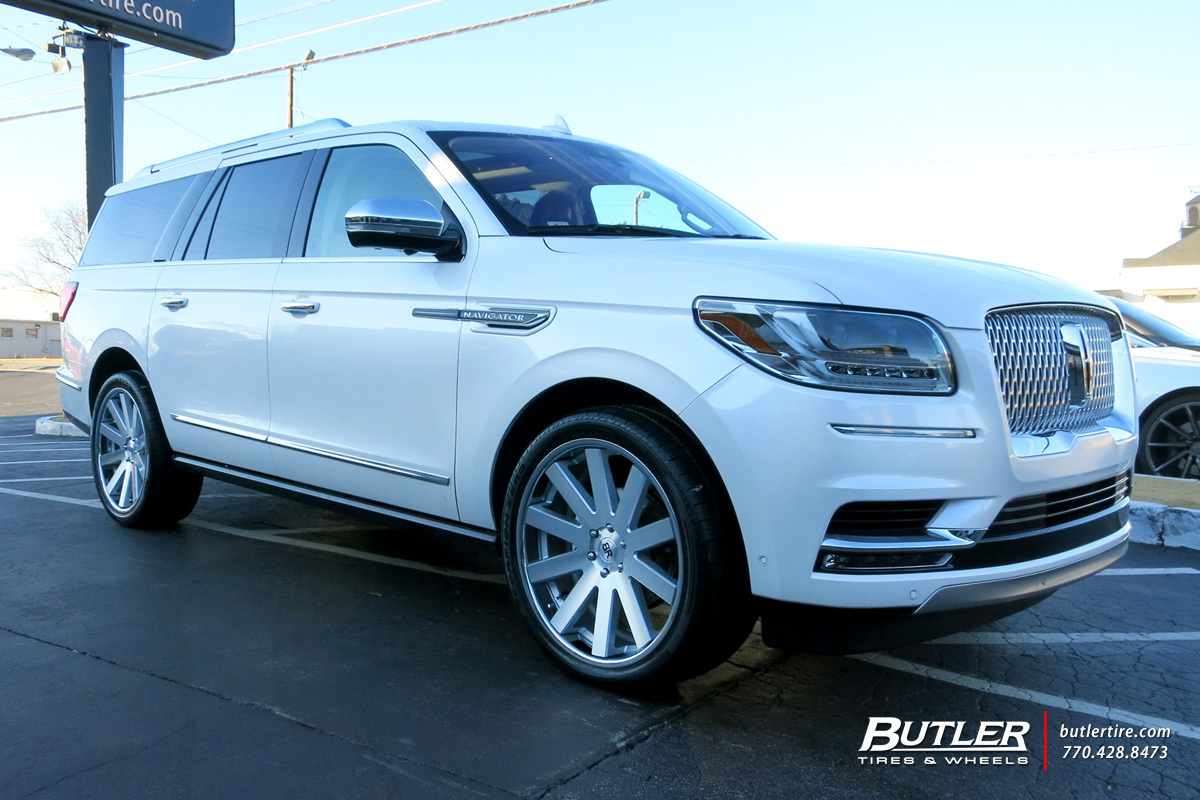 Lincoln Navigator with 24in Black Rhino Savannah Wheels exclusively from Butler Tires and Wheels ...