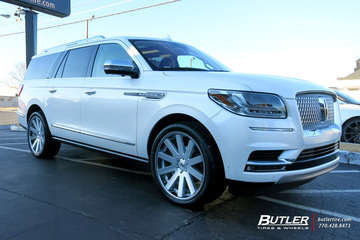 Lincoln Navigator with 24in Black Rhino Savannah Wheels