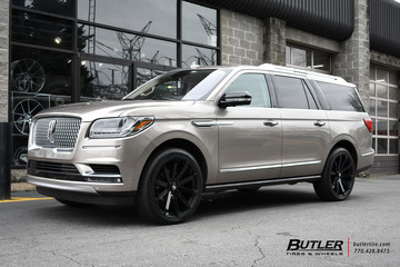 Lincoln Navigator with 24in Black Rhino Traverse Wheels