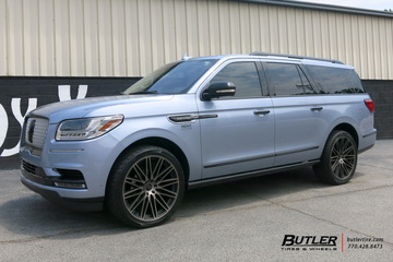 Lincoln Navigator with 24in Black Rhino Zulu Wheels
