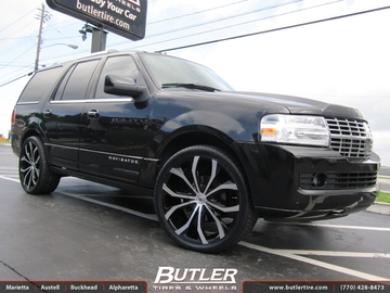 Lincoln Navigator with 24in Lexani Lust Wheels