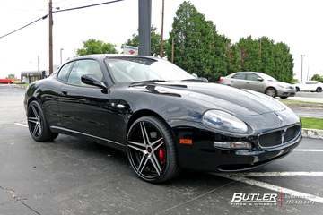 Maserati Coupe with 20in Rennen CSL-3 Wheels