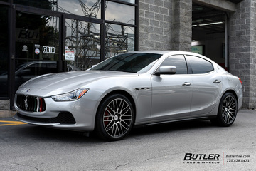 Maserati Ghibli with 20in Savini BM13 Wheels