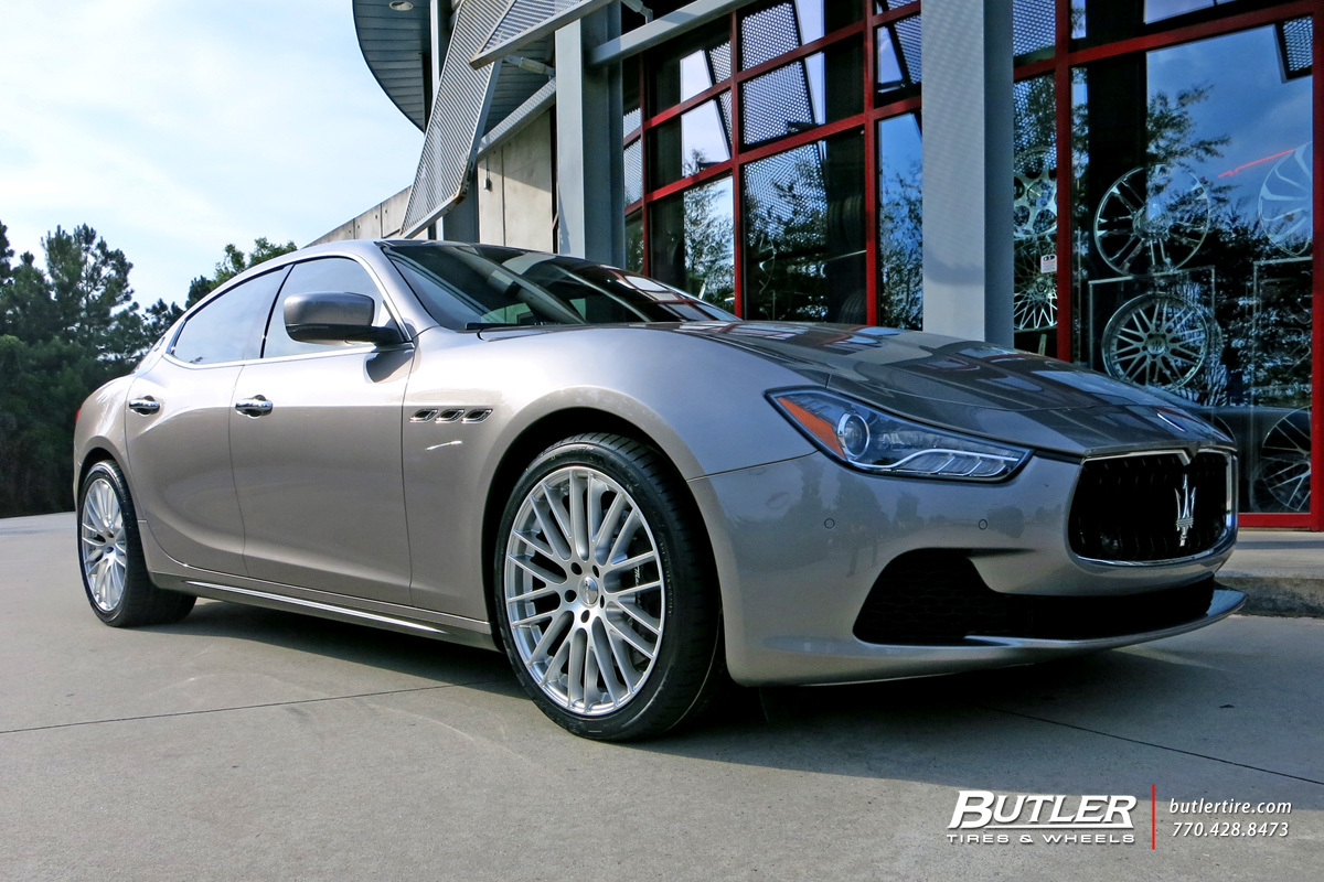 Maserati Ghibli with 20in TSW Max Wheels