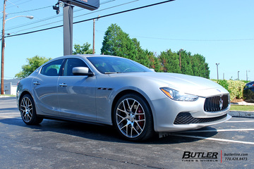 Maserati Ghibli with 20in TSW Nurburgring Wheels