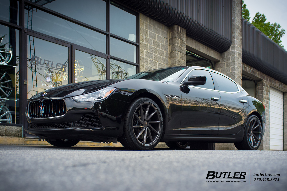 Maserati Ghibli with 20in Vossen CVT Wheels