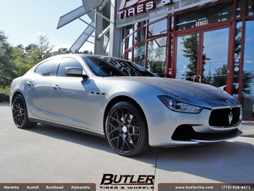 Maserati Ghibli with 21in TSW Nurburgring Wheels