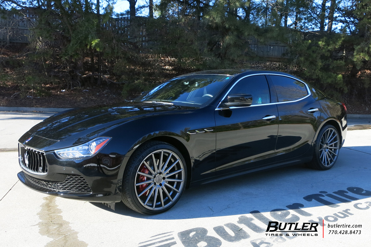Maserati Ghibli with 21in Vossen VFS2 Wheels