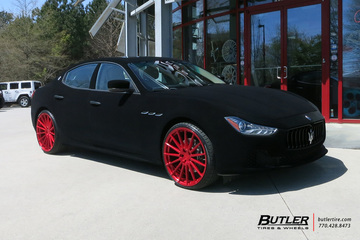 Maserati Ghibli with 22in Avant Garde M615 Wheels