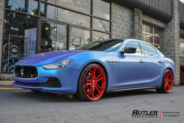 Maserati Ghibli with 22in Avant Garde M632 Wheels