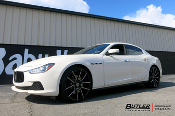 Maserati Ghibli with 22in Lexani Gravity Wheels