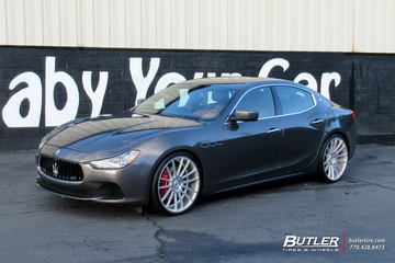Maserati Ghibli with 22in Savini BM9 Wheels
