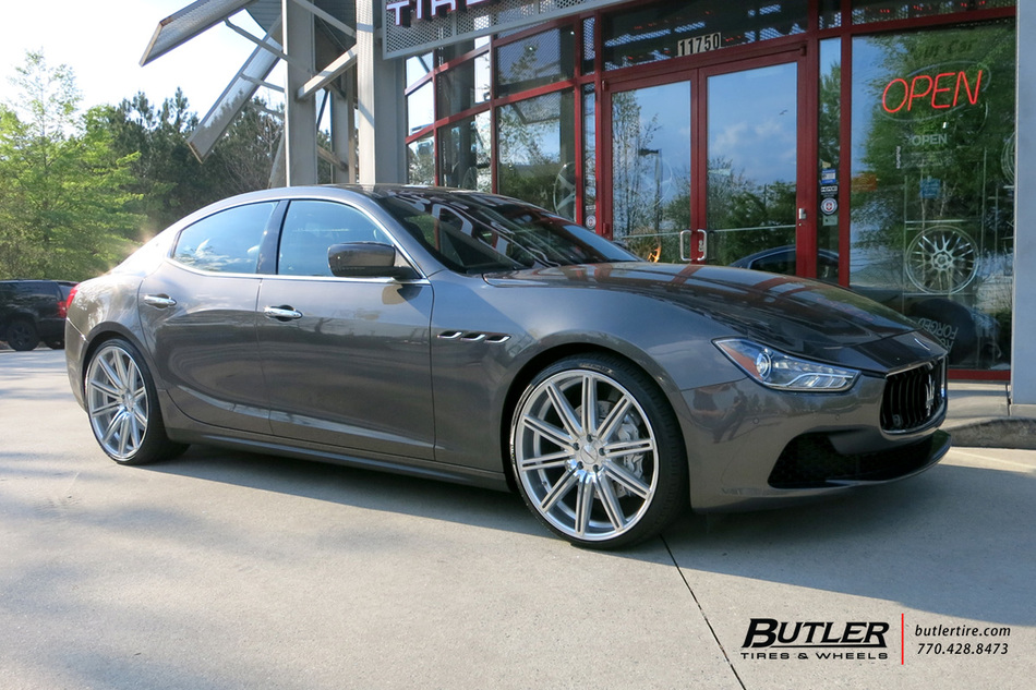 maserati ghibli with 22in vossen cv4 wheels exclusively