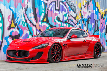 Maserati Granturismo with 21in Savini SV65 Wheels