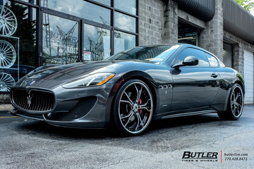 Maserati Granturismo with 22in Asanti AF176 Wheels