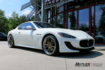 Maserati Granturismo with 22in Avant Garde AGL19 Wheels