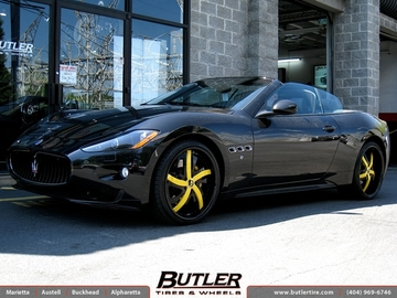 Maserati Granturismo with 22in Forgiato Rasoio Wheels