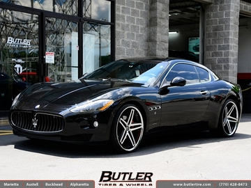 Maserati Granturismo with 22in Lexani R-Five Wheels
