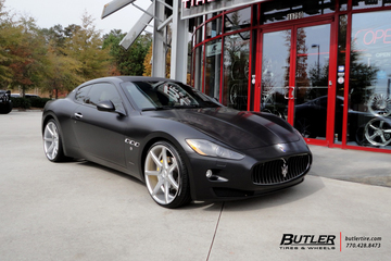 Maserati Granturismo with 22in Savini BM10 Wheels