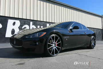 Maserati Granturismo with 22in Savini BM12 Wheels