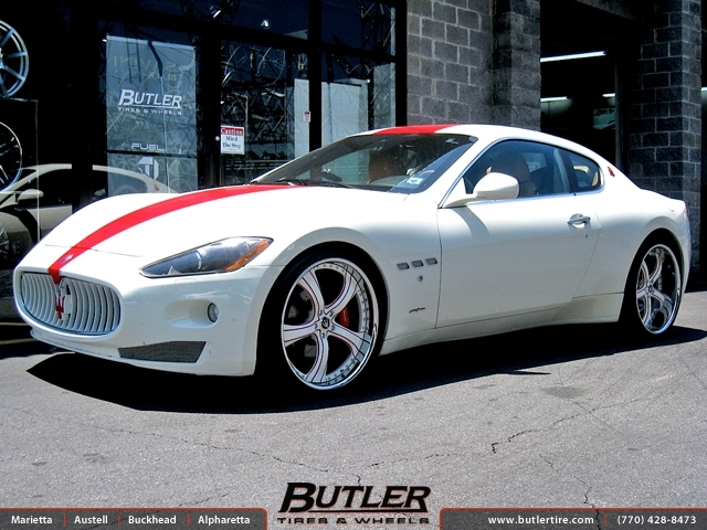 Maserati Granturismo with 22in Savini SV33 Wheels