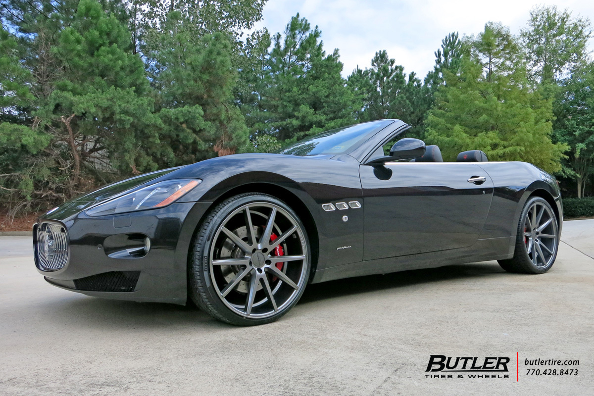 Maserati Granturismo with 22in Vossen VFS1 Wheels