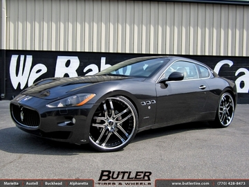 Maserati Granturismo with 24in Savini BS2 Wheels