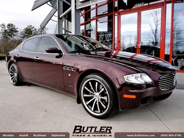 Maserati Quattroporte with 20in Lexani CVX 55 Wheels