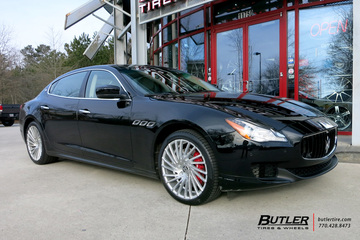 Maserati Quattroporte with 20in Lexani Wraith Wheels