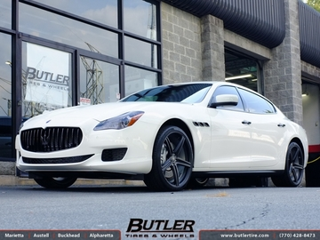 Maserati Quattroporte with 21in Niche Apex Wheels