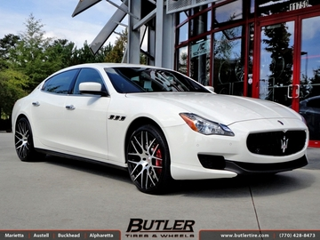 Maserati Quattroporte with 21in Niche Circuit T03 Wheels