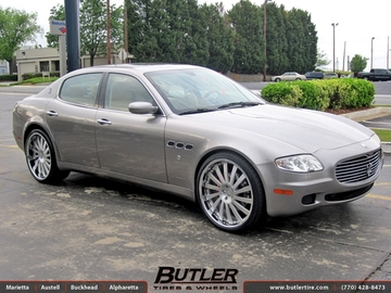 Maserati Quattroporte with 22in HRE 941R Wheels
