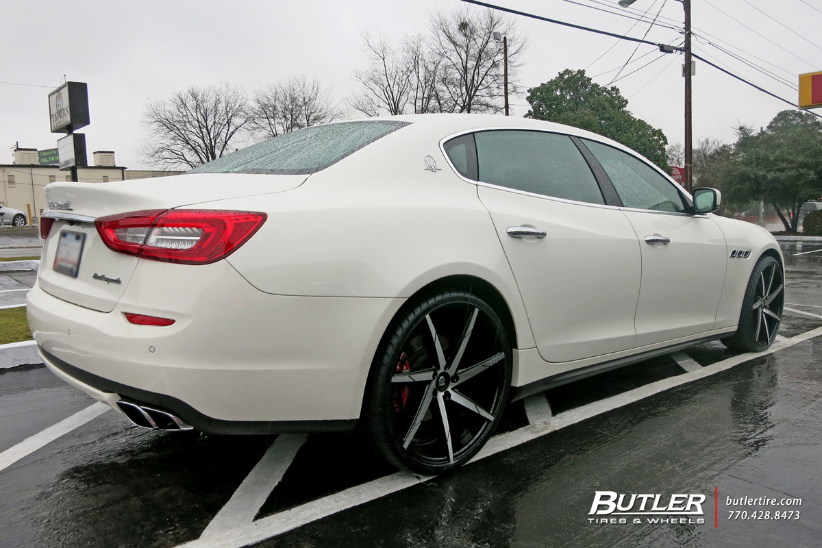 Maserati Quattroporte with 22in Lexani CSS7 Wheels