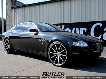 Maserati Quattroporte with 22in Lexani CVX 55 Wheels