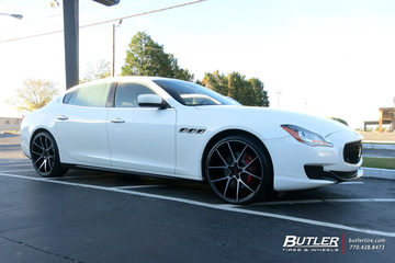 Maserati Quattroporte with 22in Savini BM14 Wheels