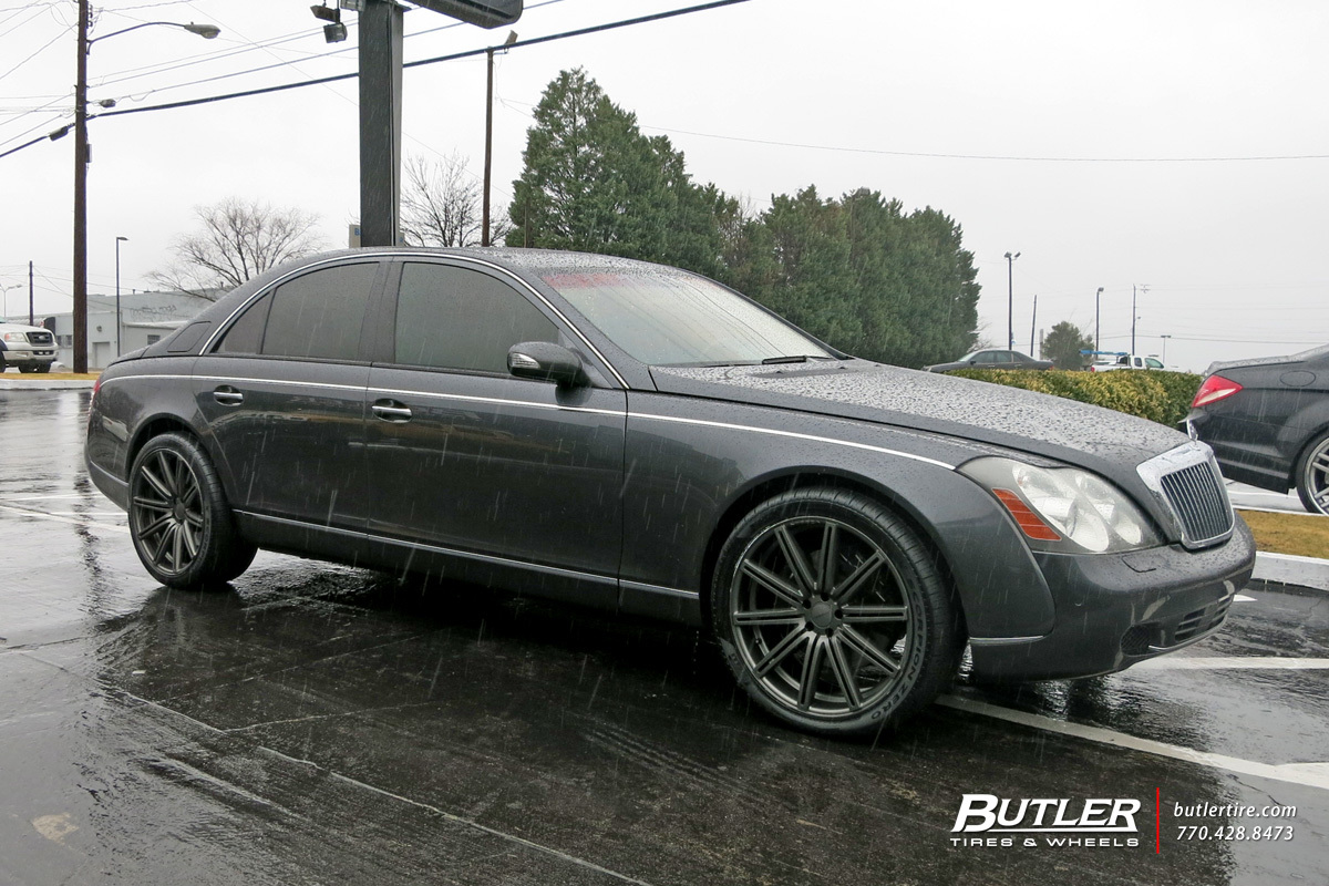 Maybach 57S with 22in Vossen CV4 Wheels