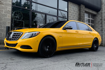 Maybach S600 with 22in Forgiato Cablata Wheels