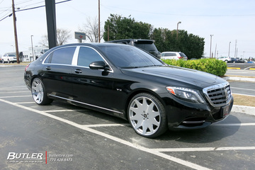 Maybach S600 with 22in MRR HR3 Wheels