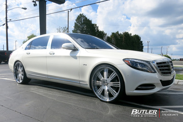 Maybach S600 with 24in Lexani LF755 Wheels