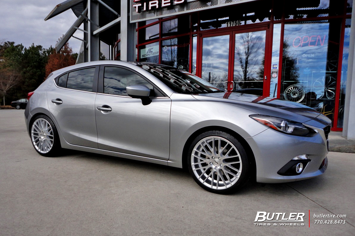 Mazda 3 with 19in TSW Parabolica Wheels exclusively from