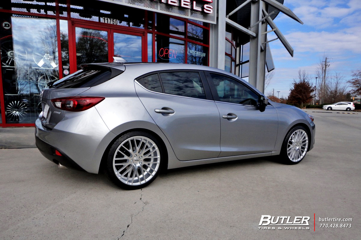 Mazda 3 with 19in TSw Parabolica Wheels
