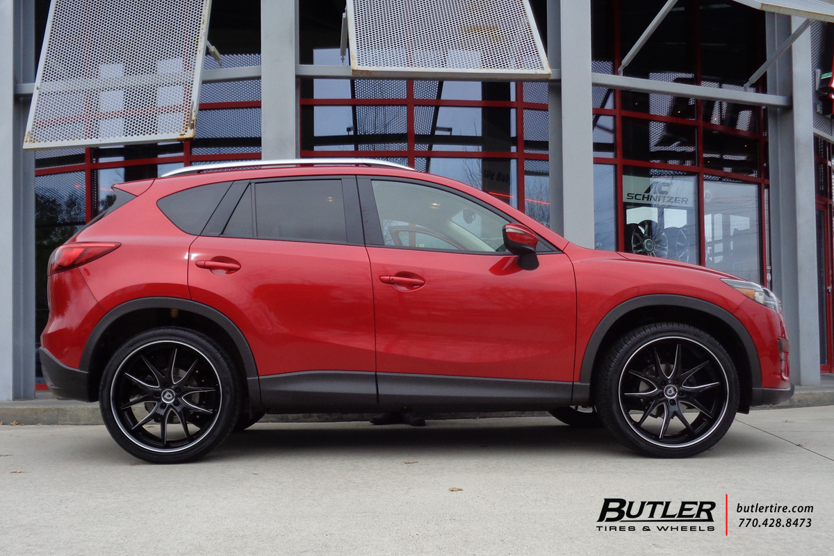 mazda cx5 with 22in lexani r twelve wheels exclusively from butler tires and wheels in atlanta. Black Bedroom Furniture Sets. Home Design Ideas