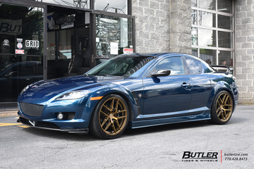 Mazda RX8 with 19in XO Helsinki Wheels