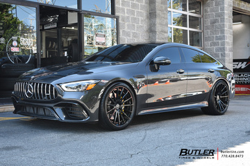 Mercedes AMG GT with 22in Forgiato Tec 2.3 Wheels