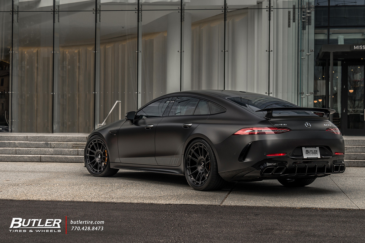 Mercedes AMG GT with 22in Rotiform OZR Wheels