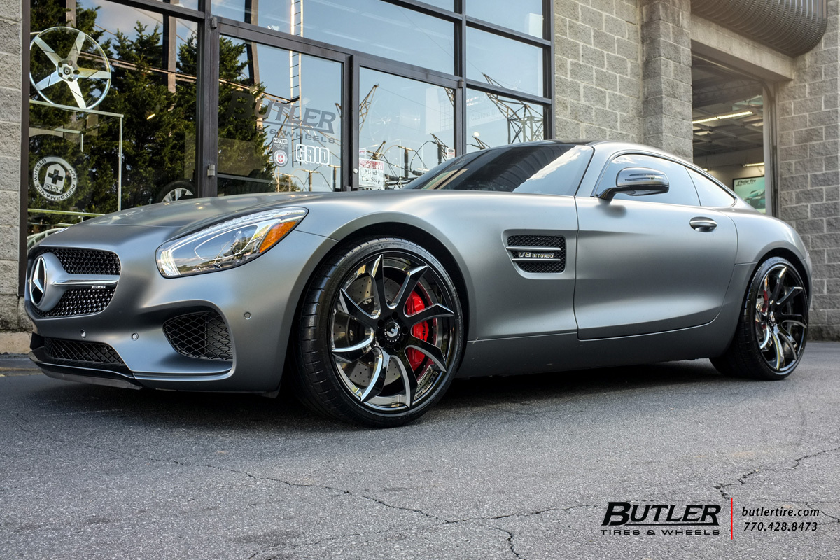 Mercedes AMG GTS with 21in Forgiato Fondare ECL Wheels